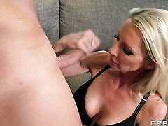 Emma Starr with giant hooters opens her legs to take Keiran Lees throbbing love stick in her bush