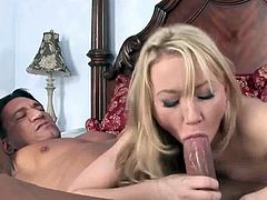 Petite blonde Madison Scott loves it when the dudes got big fat cocks. Watch as she blows it to make it perfect for her tight shaved pussy. She took it ballsdeep.