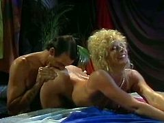 Watch this blonde babe her nice tittes and tight pussy getting fucked hard from behind in The Classic Porn sex clips.