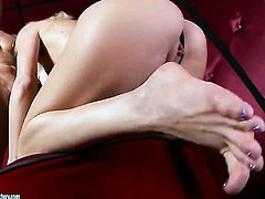 Blonde Monique Alexander needs nothing but guys hard boner in her twat to get orgasm