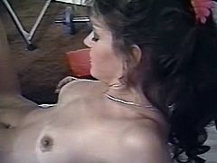 Horny babe with nice ass gets poked by her dude meanwhile two attractive babes licks each other in the gym. Have a look at this bitch in The Classic Porn sex video.