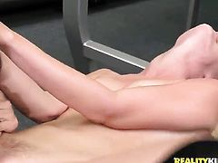 Blonde Malena Morgan plays with herself on cam