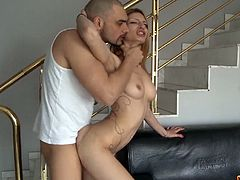 Courtesy of Cum Louder you can see how the tattooed blonde Claudia Shotz rides her man's cock into heaven while assuming some very interesting poses in this awesome free porn video.