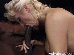 Lustful Candy Cotton sucks a gigantic black dick. It is the biggest dick she has ever seen. Then Candy gets her pussy and an ass fucked like never before. The most memorable sex in her entire life.