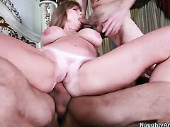 Alan Stafford buries his hard dick in enchanting Darla Cranes bum hole