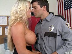Watch Ms. Jenson being nailed by the school's security guard after class in this hardcore scene where her make up gets messed up and her face's covered by semen.