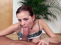 Lusty chick Candy Alexa can cope with long shlong on a pov camera