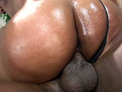 That huge black muscle of love is her objective and she takes it deep in her hungry muff. She is a penetration lover, nut just pumps!