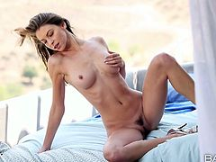 Amber Sym is incredibly hot and sex woman. She takes teasing positions in arousing video presented by Babes studio. Press play and enjoy your time.