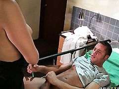 Danny Mountain cant resist flirtatious Brooke Lee Adamss acttraction and bangs her like crazy