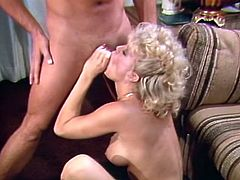 Attractive sexy blond haired babe with nice ass gets her dripping pussy fucked hard and sucks the dick. Have a look at this chick in The classic Porn sex clip.
