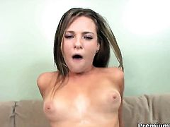 Bailey Blue lets dude shove his stiff tool in her mouth