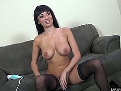 Horny and sexy brunette with nice ass and in hot stockings gets her dripping pussy fucked hard doggystyle. Have a look at this chick in My XXX Pass sex video.