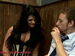 Courtesy of Kink you can see the spectacularly naughty shemale babe exchanging blowjobs with her man before fucking his ass balls deep into a breathtaking orgasm.