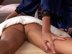 A bit of erotic massage is enough to get these slutty dolls horny for immoral pussy stimulation scenes