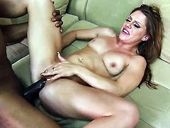Scarlett Wild has some dirty fantasies to be fulfilled in cumshot action