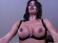 Extremely sexy and hot dark haired babe Franceska Jaimes gets drilled