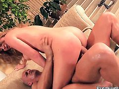 Sara Stone with juicy breasts and her sex partner fuck like rabbits