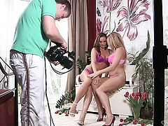 Silvia Saint and Stacy Silver are two dykes that have lesbian sex for the camera with wild desire