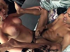 Attractive dark haired man gets his tight asshole banged hard by the horny shemale. Have a look at this ladyboy in Fame Digital sex video.