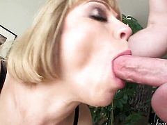 Jonni Darkko fucks Adrianna Nicole in her mouth as hard as possible in oral action