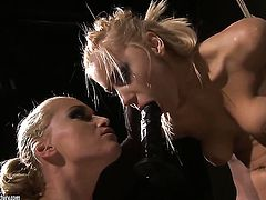 Blonde Nikky Thorne gets her beaver licked to orgasm by Kathia Nobili in lesbian action