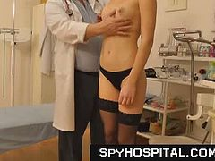 Aged gyno doctor sets up a hidden camera in his gynecology exam room, hot female patients are examined on gyno-chair. Everything is secretly videotaped with a doctor's spy cam! Download hidden cam footages exclusively only at SpyHospital.com