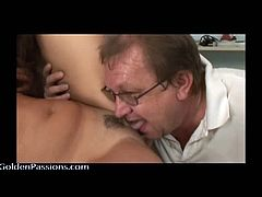 Busty blonde milf comes to doctors off for a check up. As it turns out, the doctor gives piss examinations, with him pissing in her pussy before she stands over him and pisses on him. Checkout this crazy doctor licking the trimmed and wet pussy of this blonde milf before jerking his cock and getting load of cum on these two bitches.