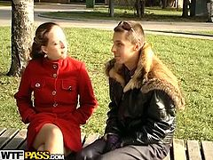 Hailey gets fucked early in the morning. After her regular outdoor activities, she skipped her breakfast as this dude enticed her to have one horny pounding.
