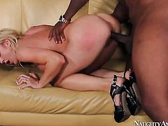 Rico Strong shows nice sex tricks to Amy Brooke with the help of his stiff boner