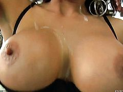 Exotic Eric John is so wet and so horny that gives blowjob to Chris Johnson just like crazy