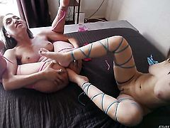 Gabriella Paltrova finds herself getting her love hole eaten out by lesbian Vicki Chase