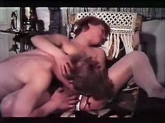 Short and light haired bitch with small tits sat on coach with legs spread and watched her kinky guy licking her hairy wet pussy with pleasure.Have a look at that dirty sex in The Classic Porn sex clip!
