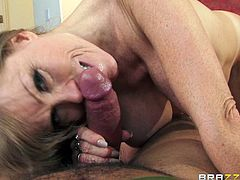 Have fun with this hardcore scene where the busty milf Darla Crane is fucked by this guy's big black cock until her mouth's filled by semen.