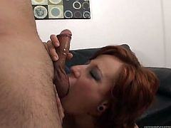 This incredibly spoiled chick wants her lover's tongue in her pussy so she spreads her legs wide and makes him lick her juicy pussy. Horny dude licks her twat passionately like a seasoned cunt licker. Then she returns the favor and goes down on him.