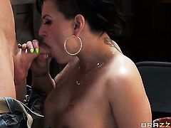 Johnny Sins has a great time banging Senorita Eva Angelina in the backdoor