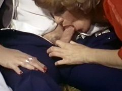 Light and long haired hoe with big saggy tits got presented hard ass fuck in sideways style. Look at that hot fuck in The Classic Porn sex clip!