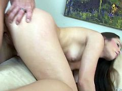 Don't skip this new fame Digital sex tube video featuring hot tempered brunette babe with sexy tattoo above her pussy. She rides hard dick like sex insane and moans with pleasure.
