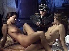 Dark haired filthy wenches with slender figures stripped and rested in bed. They waited for b-day guy to please him all possible styles.Enjoy that steamy 3 some in The Classic Porn sex clip!