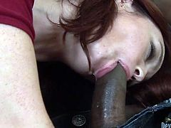 Horny dark haired chick with appetizing ass gives a great blowjob to black dude. Have a look at this bitch in fame Digital sex video.