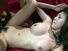 Long and dark haired Japanese jade with stunning tits enjoyed getting fucked in reverse cowgirl, missionary and doggy styles. Take a look at that steamy Asian fuck in Jav HD sex clip!