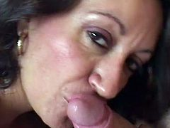 Fake-tit Persia Monir is sucking a cock