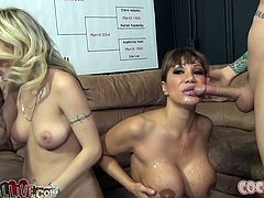 Deepthroat blowjob competition of Ava Devine and Natasha Starr