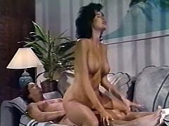 Dark haired filthy gal with tiny titties provided her guy with nice blowjob in flying 69 pose. Afterwards her hot pussy got hammered in mish and doggy poses tough. Look at that hot sex in The Classic Porn sex clip!