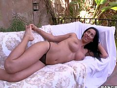 Isis Love is a beautiful sexy MILF with long black hair, sparkling brown eyes, huge tits and adorably sexy bubble butt. sexy pornstar shows her juggs during interview and then spreads her buttocks shamelessly!