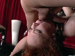 Lewd mom Audrey Hollander gives a blowjob to a horny man. They fuck in the reverse cowgirl and other positions and have amazing anal sex.
