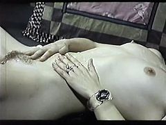 Light haired seductive tramp provided her salacious brunette pal with nice cunnilingus in 69 position. Take a look at those hairy vaginas in The Classic Porn sex video!