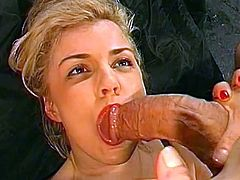 Gangbang show with awesome blonde Carmen Herzog