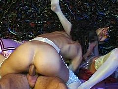 Horny and sexy dark haired bitch with awesome body gets her tight asshole fucked hard riding a cock in cowgirl pose. Have a look at this chick in Private sex clip.