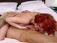 Bedroom fuck with big racked redhead milf Veronica Avluv